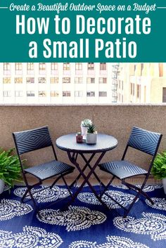 Make the Most of Your Outdoor Space … on a Budget! Make the Most of Your Outdoor Space … on a Budget!,Outdoor Decor Ideas How to decorate a Small Patio on a budget! Small Patio Ideas On A Budget, Patio Decorating Ideas On A Budget, Budget Patio, Decor Ideas, Inexpensive Patio Ideas, Boho Ideas, Porch Decorating, Small Outdoor Patios, Small Porches