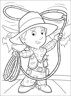 Western Cowboy Kids Colouring Pictures to Print-and-Colour Online ...