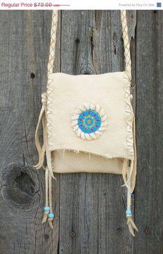 Beaded leather purse Handmade crossbody bag by thunderrose on Etsy, $57.60 http://fashionbagarea.blogspot.com/  #chanel #handbags #bags #fashion women chnael 2015 bags are under $159