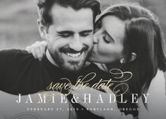 """going with a black and white photo could keep it consistent with the palette! """"Moment"""" - Classical, Elegant Foil-pressed Save The Date Cards in Full Bleed by Jessica Williams."""