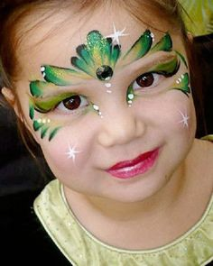 Tinkerbell Fairy Birthday Face Paint and Makeup Ideas