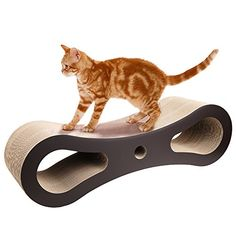 Homdox Cat Scratcher Lounge Kitten Scratch Post Cardboard Scratcher for Cats -- Continue to the product at the image link. (This is an affiliate link) #dogtrainingandbehavioraids