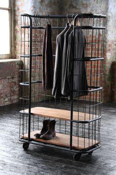 Caged Wardrobe / Shelf Unit by Wheresaintsgo on Etsy