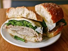 recipe for roast pork & broccoli rabe sandwich from Cutty's in Boston