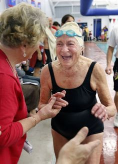 Even at 100, still making a splash...yes!!!