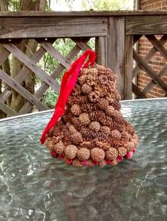 Check out this item in my Etsy shop https://www.etsy.com/listing/470602752/pinecone-bell-ornament-vintage-ornament