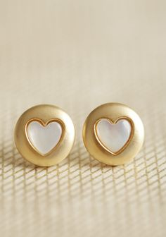ShopRuche.com  Lovely Heart Studs