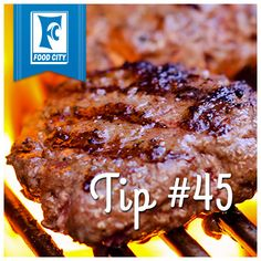 Put a thumbprint in the center of your burger patties to keep your burger flat, not round.