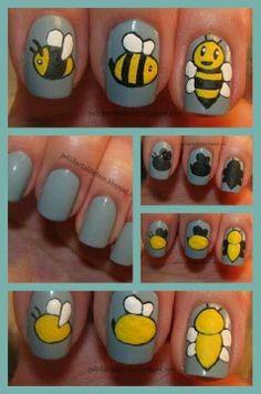 Bee nails:)