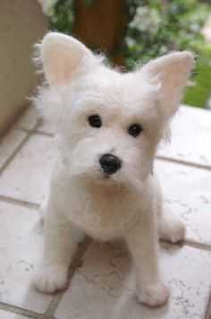 needle felted westie | handmade + collectibles