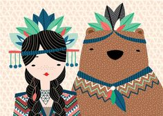 It's just a girl and her bear. Great illustration by Hillary Bird.