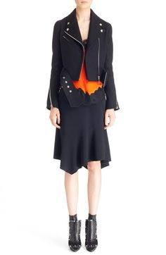 Givenchy Crop Wool Blend Moto Jacket