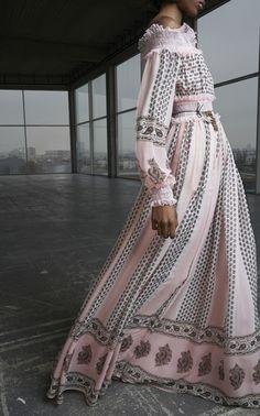 Giambattista Valli Off The Shoulder Printed Dress