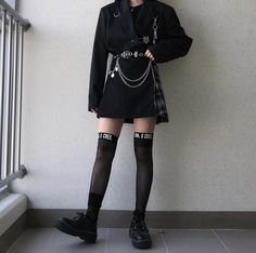Women S Fashion Designer Labels Edgy Outfits, Korean Outfits, Grunge Outfits, Grunge Fashion, Cool Outfits, Fashion Outfits, Fashion Trends, Alternative Outfits, Alternative Fashion