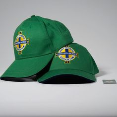 New Northern Irish Football Adjustable Hat Green White Army Curved Baseball  Cap 0fac0ad4e9a