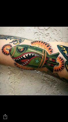 Calm like a bomb. http://www.retroj.am/traditional-tattoos/