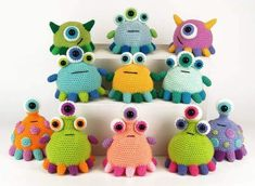 Tippy Toe Monsters - Amigurumi Crochet Pattern : Tippy Toe Monster Pattern by M. : Tippy Toe Monsters – Amigurumi Crochet Pattern : Tippy Toe Monster Pattern by Moji-Moji Design Crochet Monsters, Crochet Animals, Crochet Toys, Knit Crochet, Crochet Doll Tutorial, Monster Toys, Pattern Images, Stuffed Toys Patterns, Craft Fairs