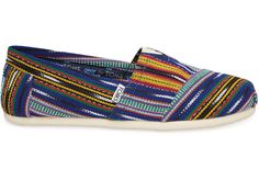 Guatemalan Hand-Dyed / Blue and Yellow Woven TOMS + Piece and Co.Women's Classics