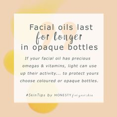 Rosehip oil is made up from lots of precious oils that go off real quick. To get the most from your rosehip oil it's best to invest in one that's protected by an opaque skincare bottle and to make sure you replace your facial oil lid asap.