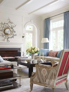 Splendid Sass: VICTORIA HAGAN ~ DESIGN IN CONNECTICUT Such detail on the chairs - I think this room looks better in person.