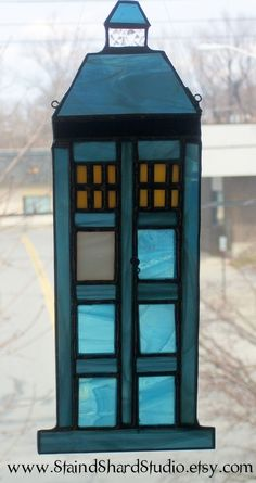 TARDIS... dont want my home crazy nerdy but this could deff be in my window :) :) :)