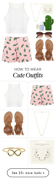 """""""Cute summer outfit"""" by emmeleialouca on Polyvore featuring American Retro, Billabong, Wanderlust + Co, River Island, MANGO and Johnny Loves Rosie"""