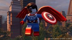 Another batch of free DLC for LEGO Marvel's Avengers has been released with the Captain America: Civil War character pack featuring content from the film! Lego Marvel's Avengers, Avengers Games, Avengers Team, Marvel Avengers Assemble, Lego Marvel Super Heroes, Playstation, Xbox 360, Ps4, Lego Jurassic World