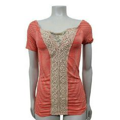 Free People Striped Print Shirt Top Sz S Pre-owned; no flaws found  Material 65%Cotton-35%nylon  Specifics Short sleeve, striped print, casual.  Inventory #P5T 520   Across Chest 14 in.  Across Waist 13.5 in.  Length 25.5 in. Free People Tops Tees - Short Sleeve