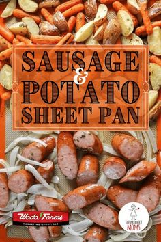 Quick and easy dinner recipe featuring kielbasa sausage, baby carrots, white onions, and Wada Farms potatoes. Make this recipe and save time on prep, cooking and clean up. Quick Easy Meals, Easy Dinner Recipes, Easy Recipes, Fresh Potato, Healthy Recipes, Eat Healthy, Pork Recipes, Free Recipes, Potato Dishes