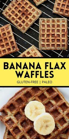Nutritious Breakfast, Breakfast Snacks, Breakfast Items, Healthy Breakfast Recipes, Banana Waffles, Healthy Waffles, Gluten Free Waffles, Waffle Recipes, Paleo Recipes