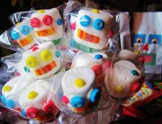 Robot Pops - made easy w/marshmallows