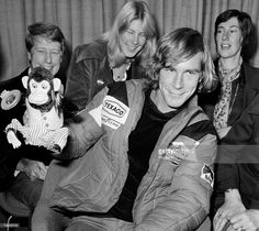 Sport, Motor Racing, London, England, 26th October 1976, Britain's new World Champion James Hunt at Heathrow airport after arriving from Toyko where he won the Formula One World Championship title