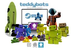 Teddybots believe in safely introducing young children to the wonders of exciting digital fun and education with a range of soft toys, puzzles & games Soft Toys Making, Irish Design, Minions, Plush, Meet, Education, Children, Fun, Kids