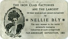 Pioneer. Nelly Bly and investigative reporting | generally