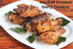 Smoked Coconut Red Curry Chicken with Greek Yogurt © Jeanette's Healthy Living