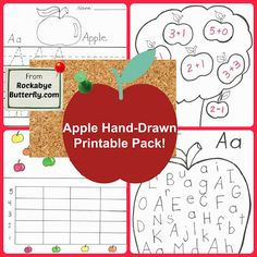 Rockabye Butterfly: Apple Printables & Apple-tivities!