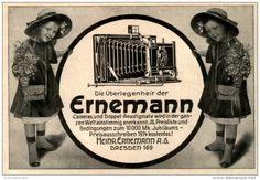 Original-Werbung/ Anzeige 1913 - ERNEMANN CAMERAS DRESDEN - ca. 135 x 90 mm