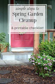 Simple spring garden cleanup tasks to get your yard & garden ready for summer + printable checklist! #ad @FiskarsAmericas iskars @gilmourgarden