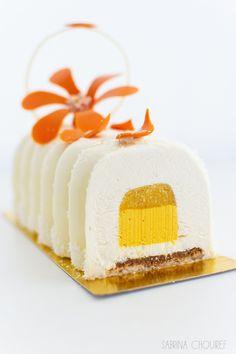 Bûche Coco Ananas Passion - mes douceurs