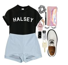 """""""In a Hotel Room Where Demons Play."""" by karris-thomson ❤ liked on Polyvore featuring Berry, Pull&Bear, Bari Lynn, Cartier, tarte, Dr. Martens, Bobbi Brown Cosmetics, Nisan, Chanel and The Giving Keys"""