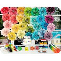 Paper Rosette Party Decorations [DIY Party Decorations] ~