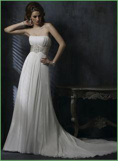 White/Ivory Chiffon Wedding Dress Bridal evening Prom Gown Size:4/6/8/10/12/14 | eBay