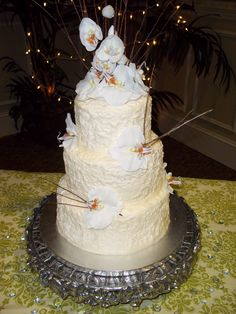 Textured Wedding Cake. #weddingcake