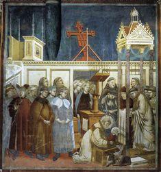 Giotto - St. Francis of Assisi Preparing the Christmas Crib at Grecchio, 1297-1300