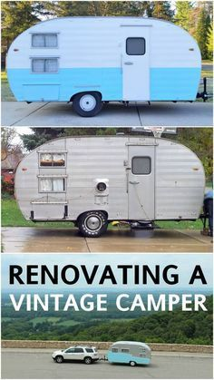 How To Refurbish An Old Camper Camper Makeover Retro Camping - Old shabby trailer gets one hell makeover
