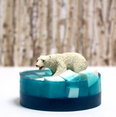 This homemade melt and pour polar bear soap makes is not only easy to make but it also makes for fun homemade Christmas gifts or DIY stocking stuffers!
