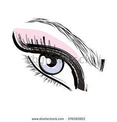 stock-vector-pink-and-blue-eyelashes-and-eyebrows-eye-drawing-make-up-icon-376592803.jpg (450×470)