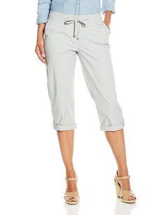 2964235cd4f Lee Women s Petite Relaxed Fit Quinn Knit Waist Cargo Capri Pant