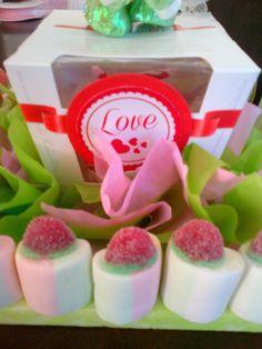 lindo bouquet de chocolates y mashmellows