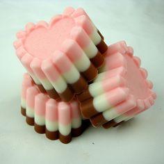 Neapolitan Heart - Goat's Milk Soap Bar. $5.00, via Etsy.